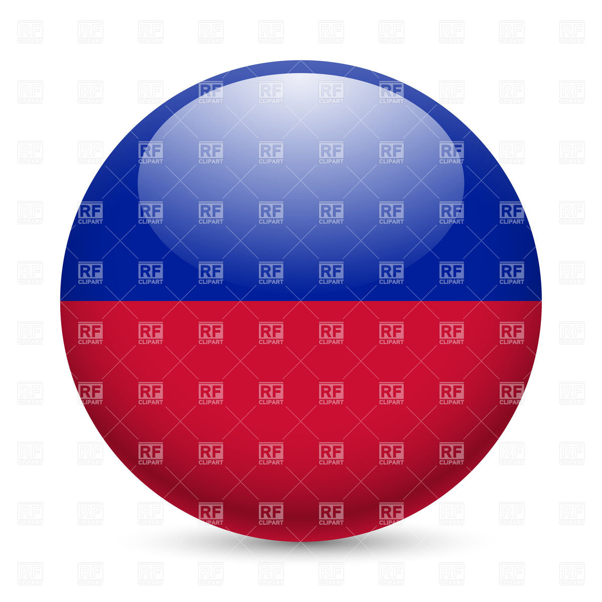 1200x1200 Round Glossy Icon With Flag Of Haiti Royalty Free Vector Clip Art