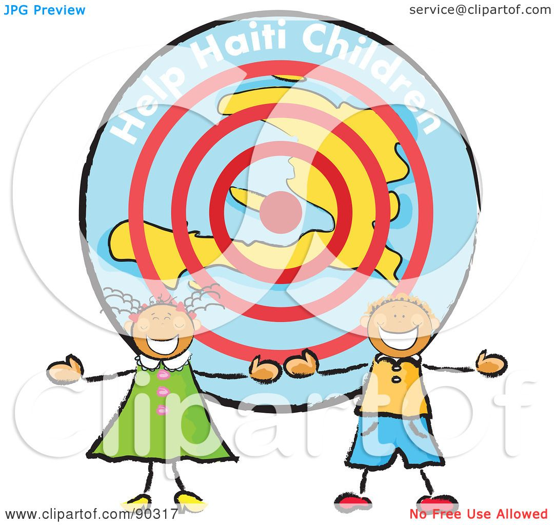1080x1024 Royalty Free (Rf) Clipart Illustration Of Two Stick Children