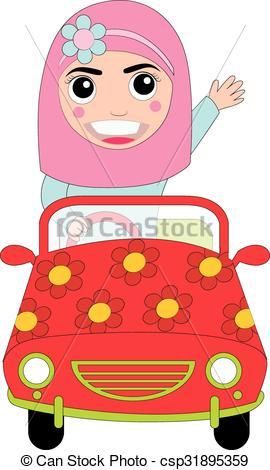 270x470 Islam Girl Vector Clipart Vector