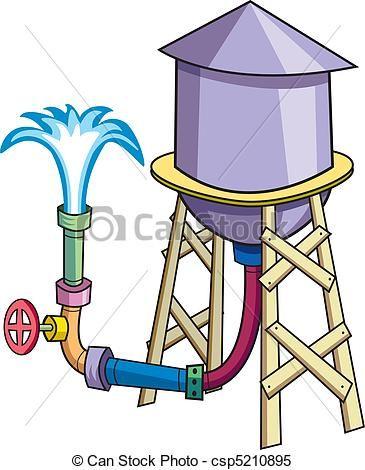365x470 Nice Water Tower Clip Art