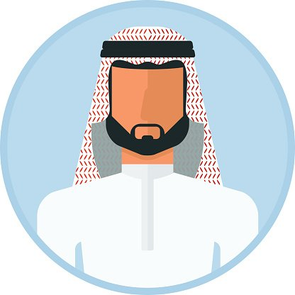 416x416 Arabic Muslim Man Premium Clipart