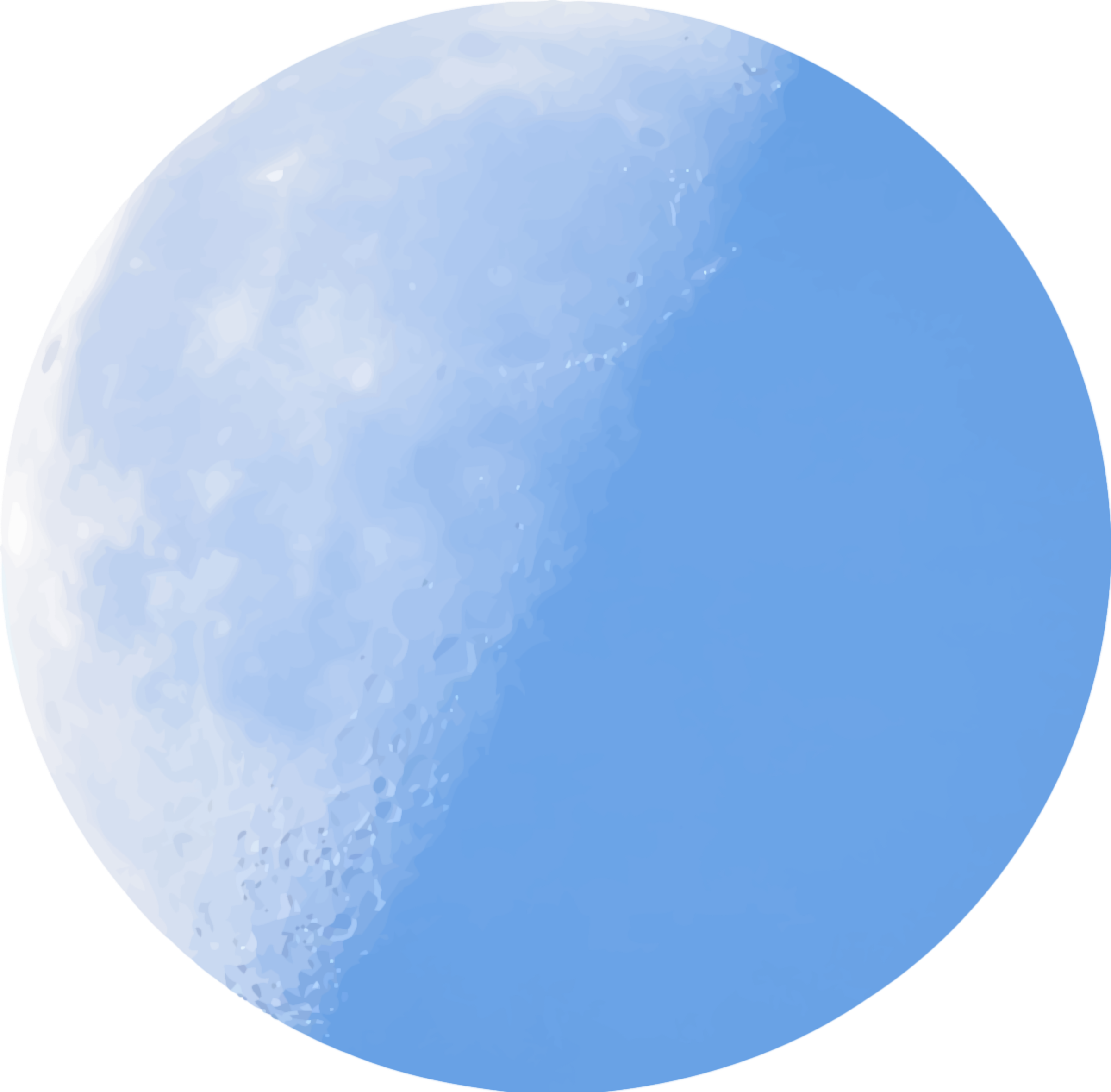 2400x2358 Isolated Half Moon In Daylight Icons Png