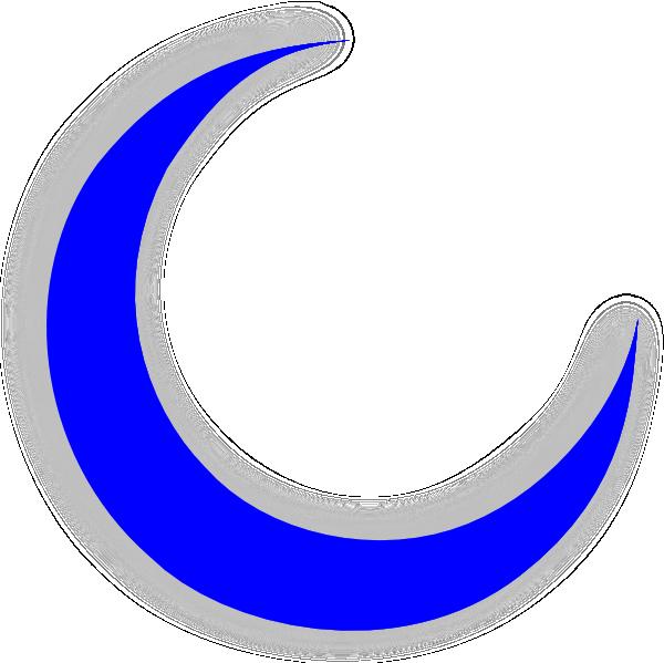 600x599 blue moon crescent clip art