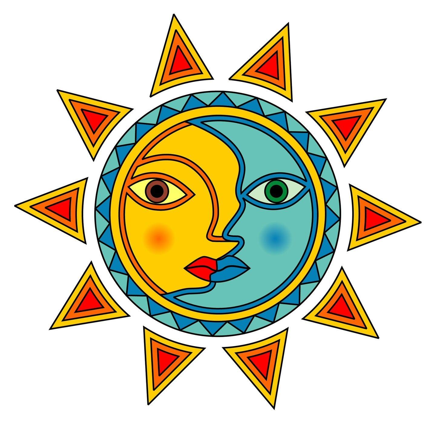 1431x1400 Sun And Moon Clip Art