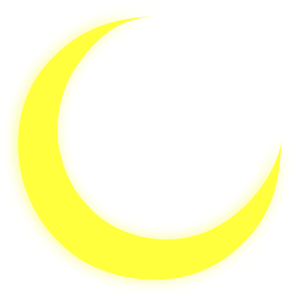 600x599 Yellow Crescent Moon Clipart