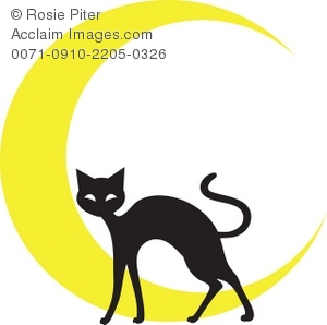 300x298 Cat And Moon Clipart