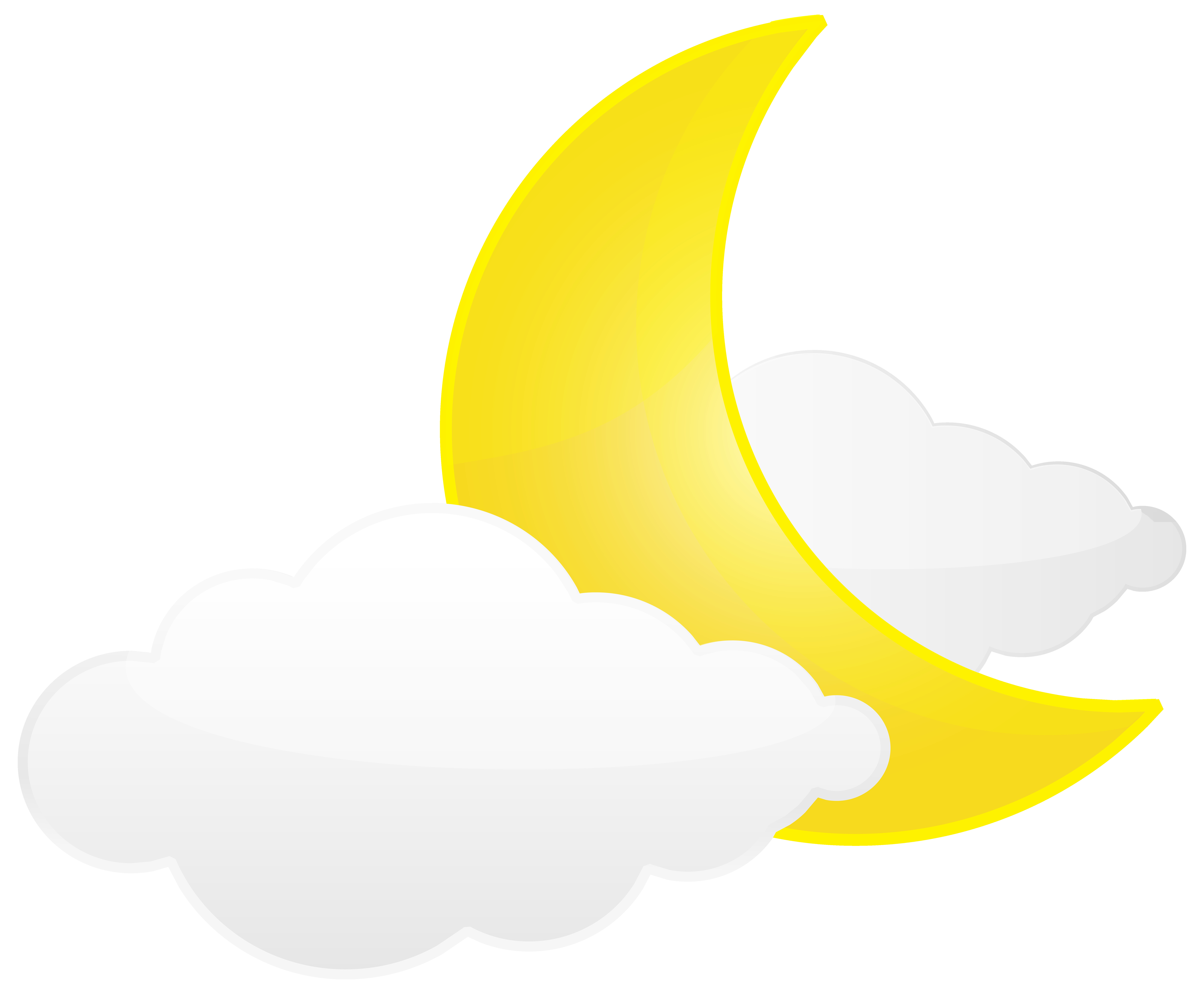8000x6604 Cloud And Moon Weather Icon Png Clip Art Best Web Clipart Ripping
