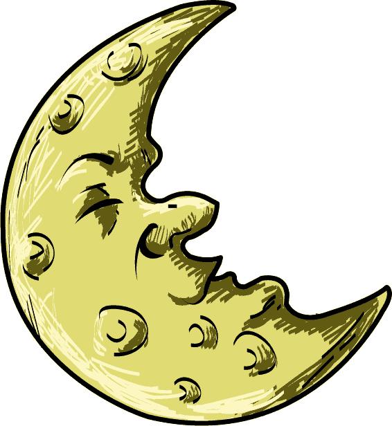 566x616 Crescent Moon Cartoon