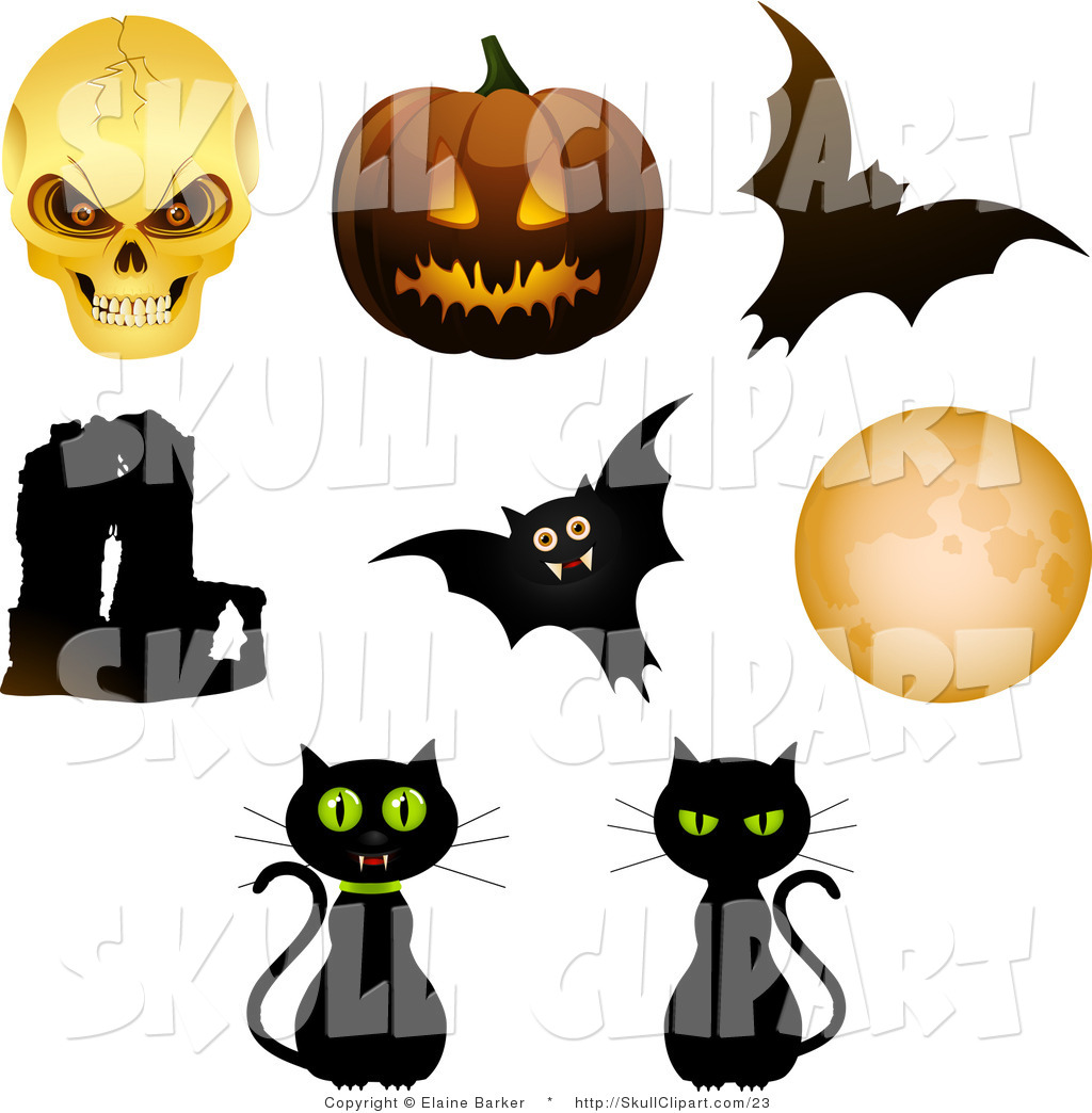 1024x1044 Vector Clip Art Of A Digital Collage Of Eight Halloween Objects