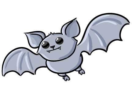 432x323 Cute Bat Clipart