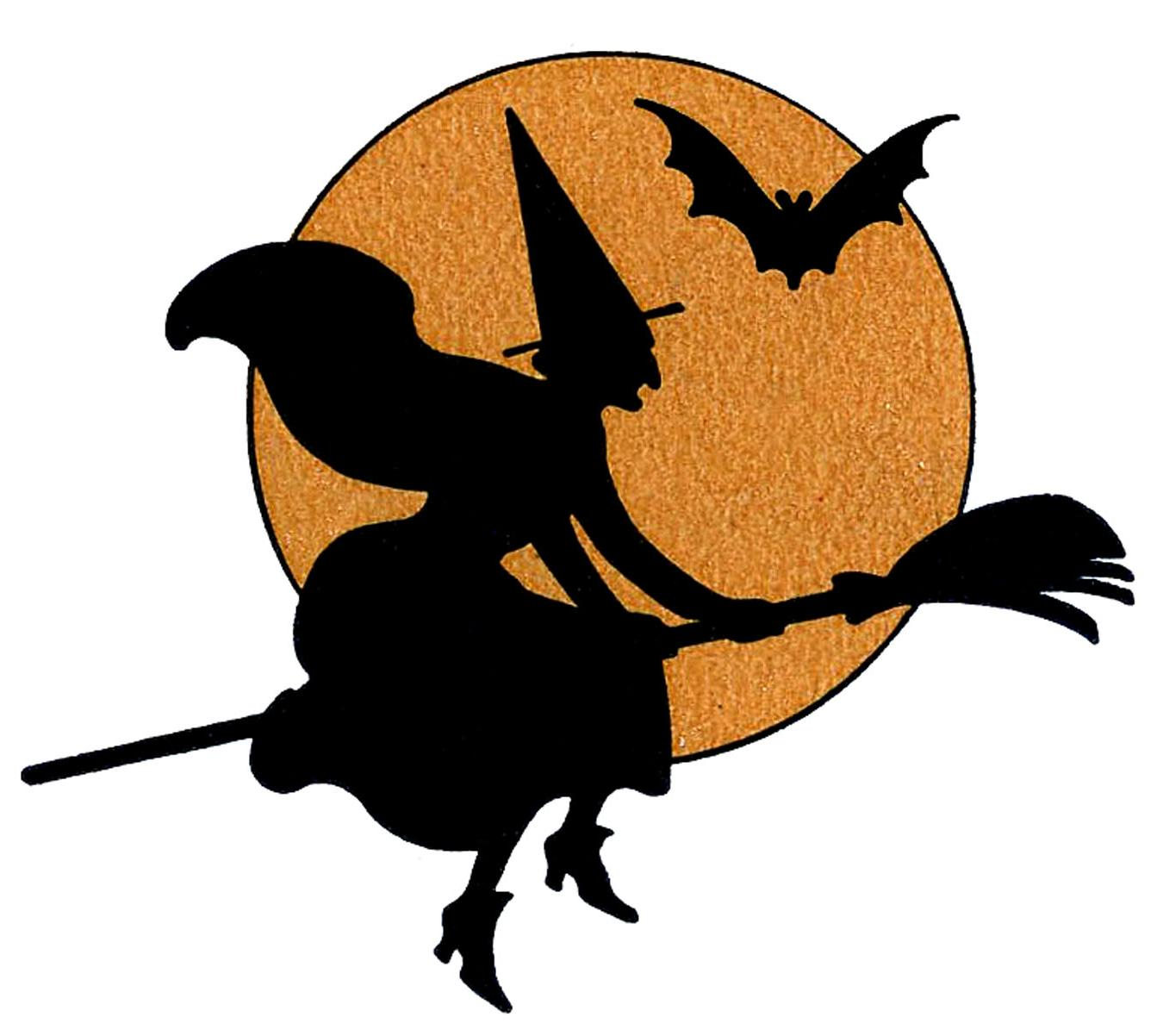 1350x1202 Hd Silhouette Halloween Moon Clip Art Image Vector Graphic Images
