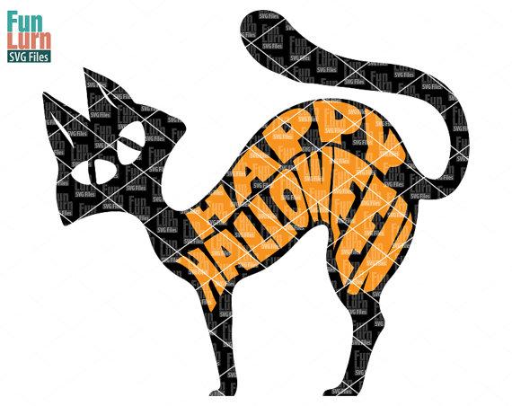 570x452 Happy Halloween Sign Svg, Halloween Black Cat Svg, Halloween Svg