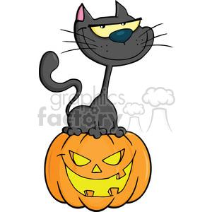 300x300 Royalty Free Royalty Free Rf Clipart Illustration Halloween Cat