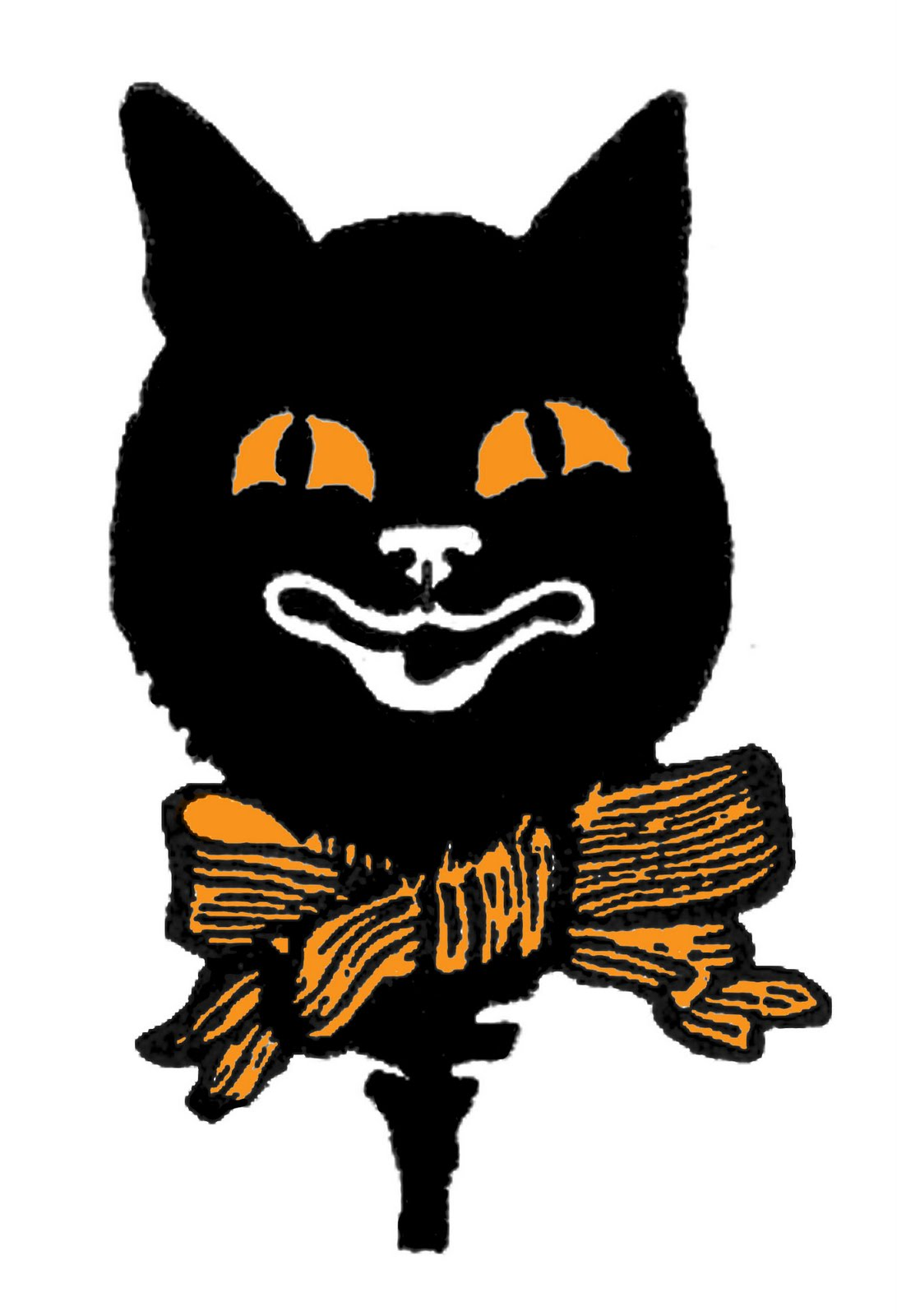 1091x1600 Vintage Halloween Clipart Cat Fun For Christmas