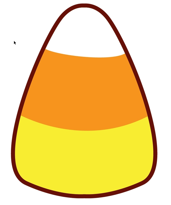600x719 21 Images Of Halloween Candy Corn Clip Template
