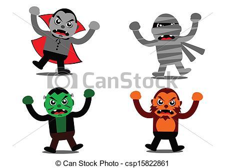 450x337 Illustration Vector Graphic Of Halloween Monster Cartoon Clip