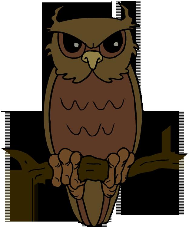 624x750 Brown Hawk Owl Clipart Cartoon Halloween