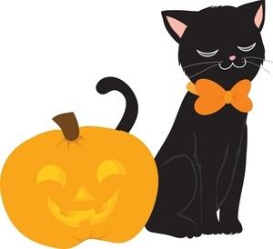 300x274 Cute Halloween Cat Clipart Craft Get Ideas