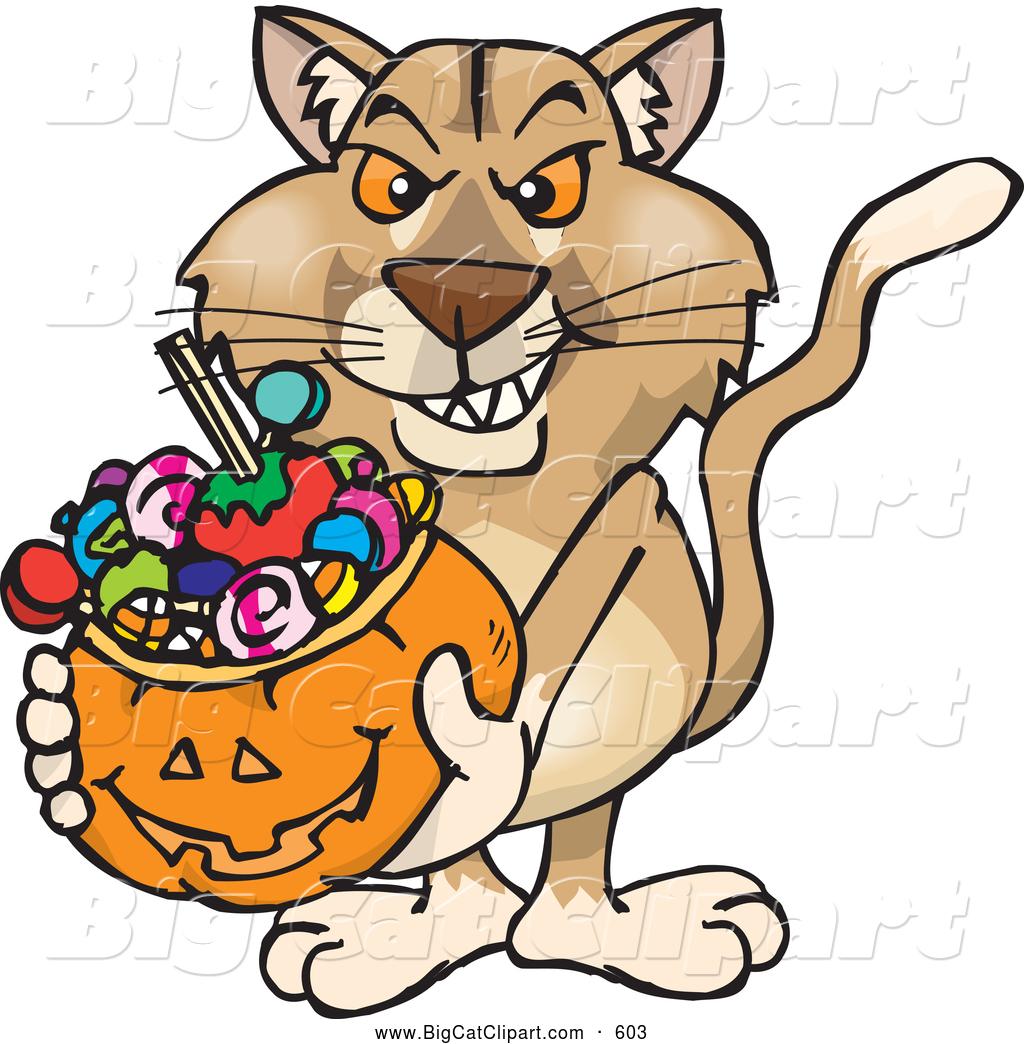 1024x1044 Big Cat Cartoon Vector Clipart Of A Aggressive Trick Or Treating