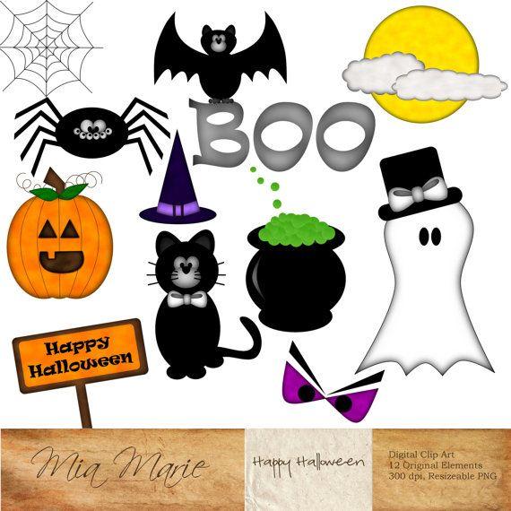 570x570 Instant Download Digital Clip Art Halloween Clipart Halloween Clip