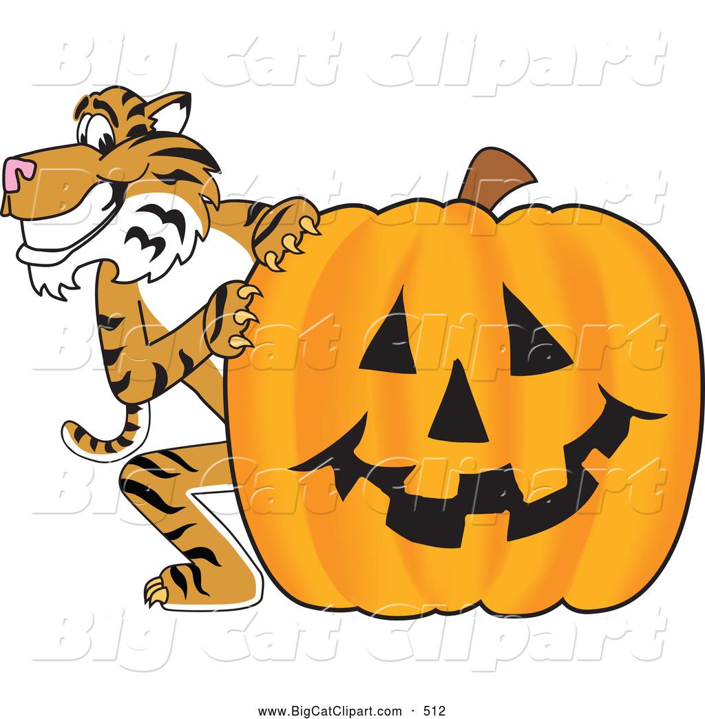 1024x1044 Big Cat Cartoon Vector Clipart Of A Grinning Tiger Character