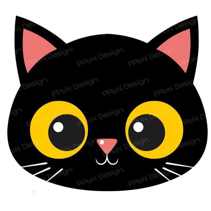 736x736 Cat S Head Clipart Gray Clip Art Image