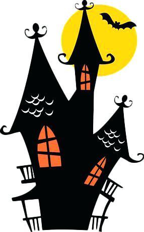 286x459 Halloween Haunted House Clip Art Black Haunted House Black Haunted