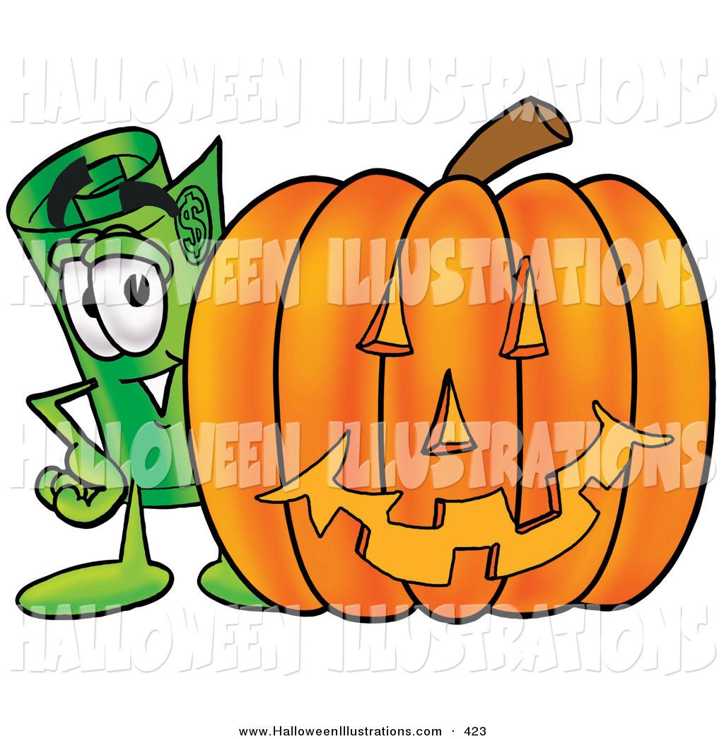 1024x1044 Halloween Clip Art Of A Cute Rolled Money Mascot Cartoon Character