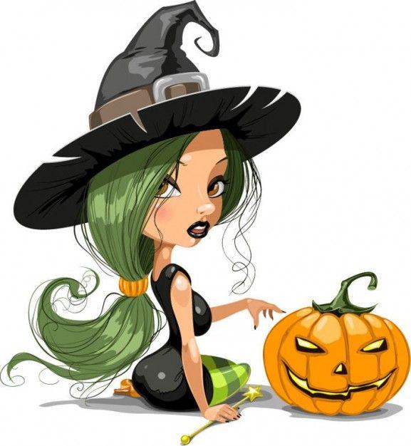 577x626 Cute Halloween Witch Clip Art Clip Art