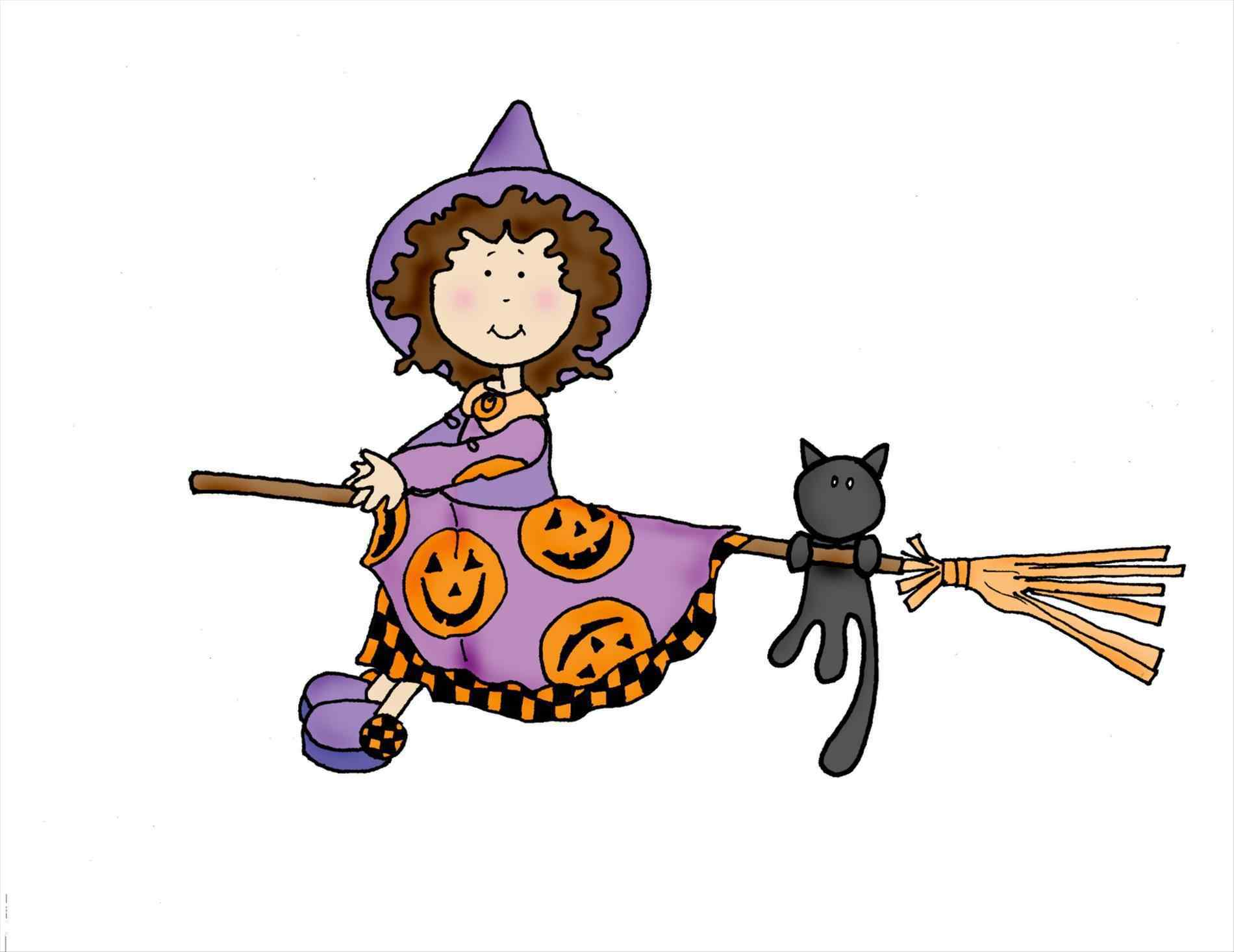 1900x1467 Witch On A Broom Gif Clipart Moon Broom Echoufree Halloween Clip