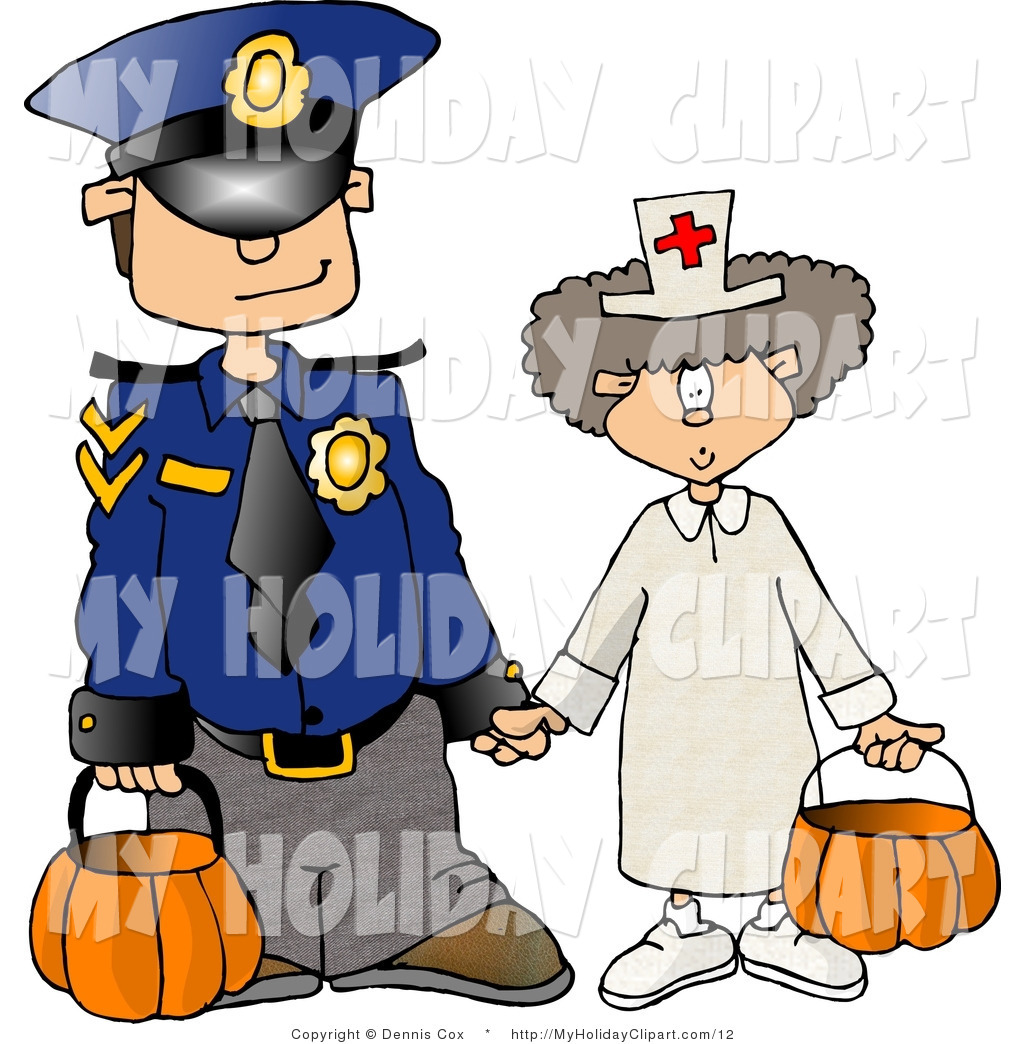 1024x1044 Clip Art Of A Kids On Halloween Dressed As Police Officer