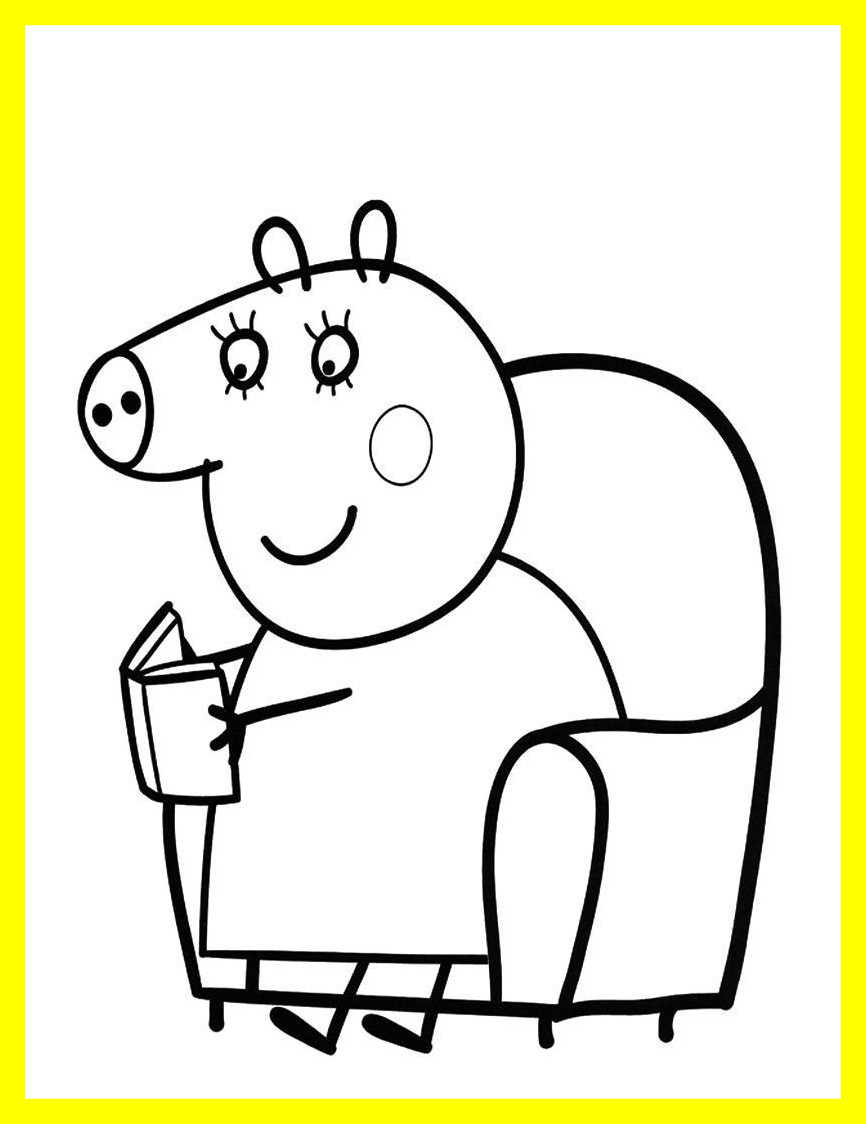 866x1124 Amazing Peppa Pig Coloring Pages Halloween Picture For To Print