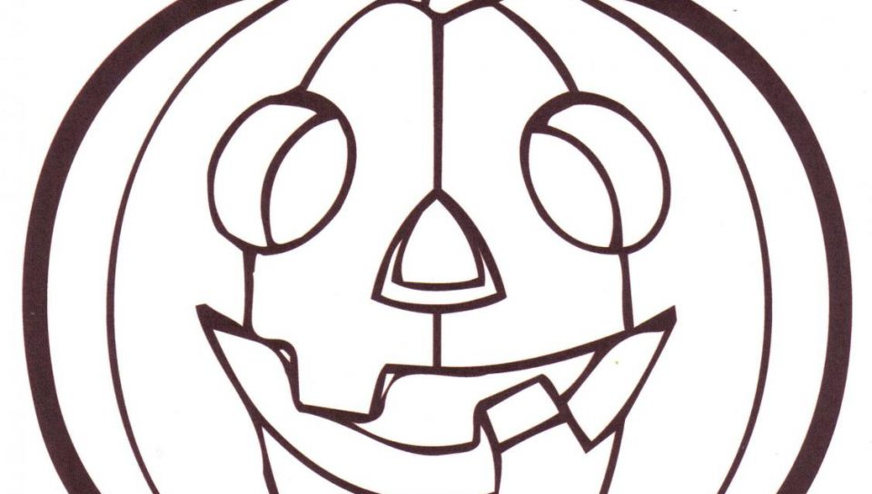 960x544 Pumpkin Colouring Pages To Print Halloween Coloring Printable Free