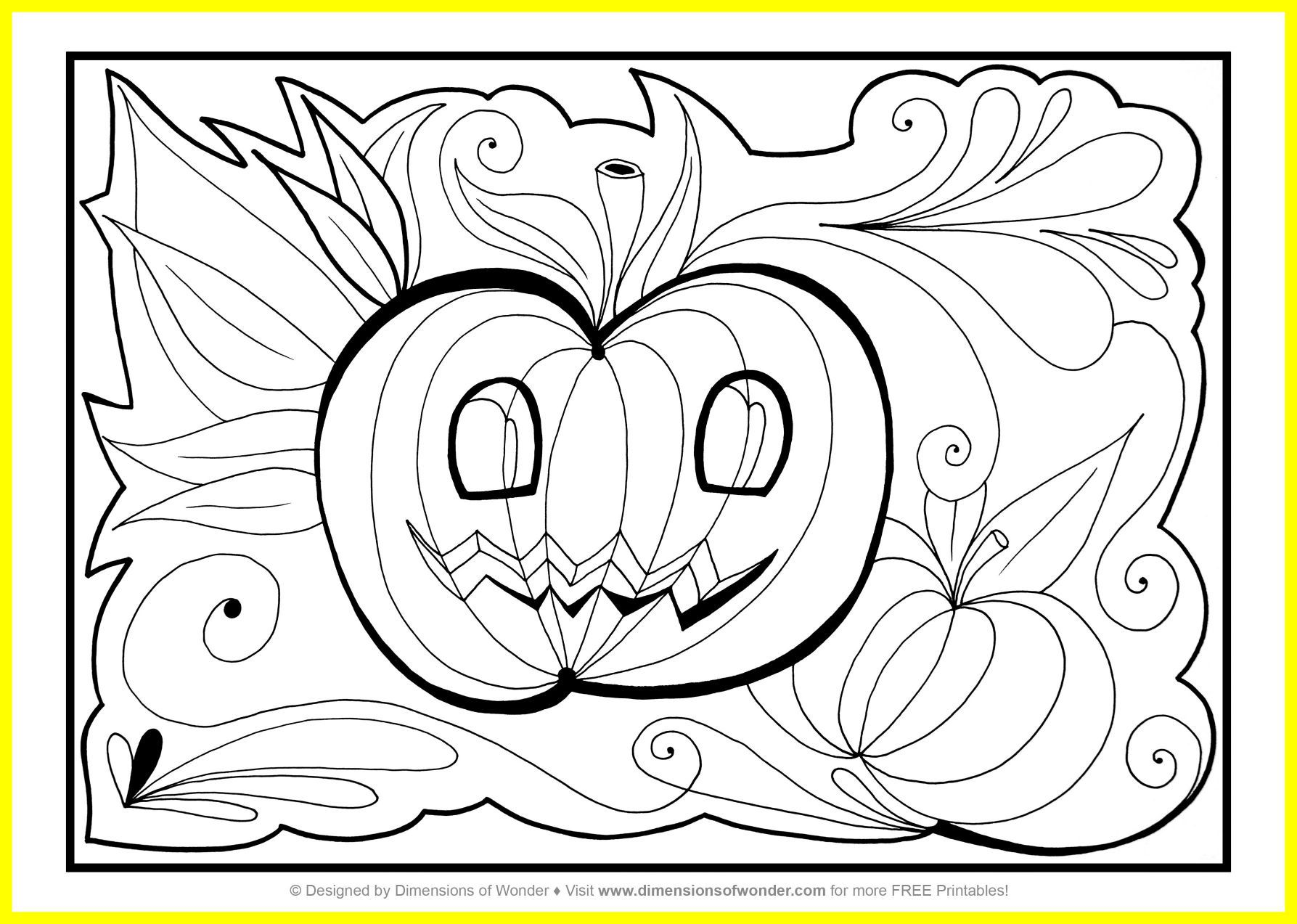 1787x1273 Appealing Printable Halloween Coloring Pages To Print Happy