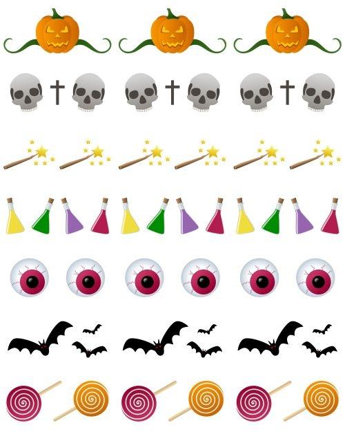 500x625 Halloween Decoration Clipart Clip Art Halloween Witch Skull Bat