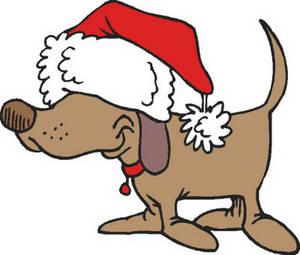 300x255 Dog Clip Art For Christmas Fun For Christmas