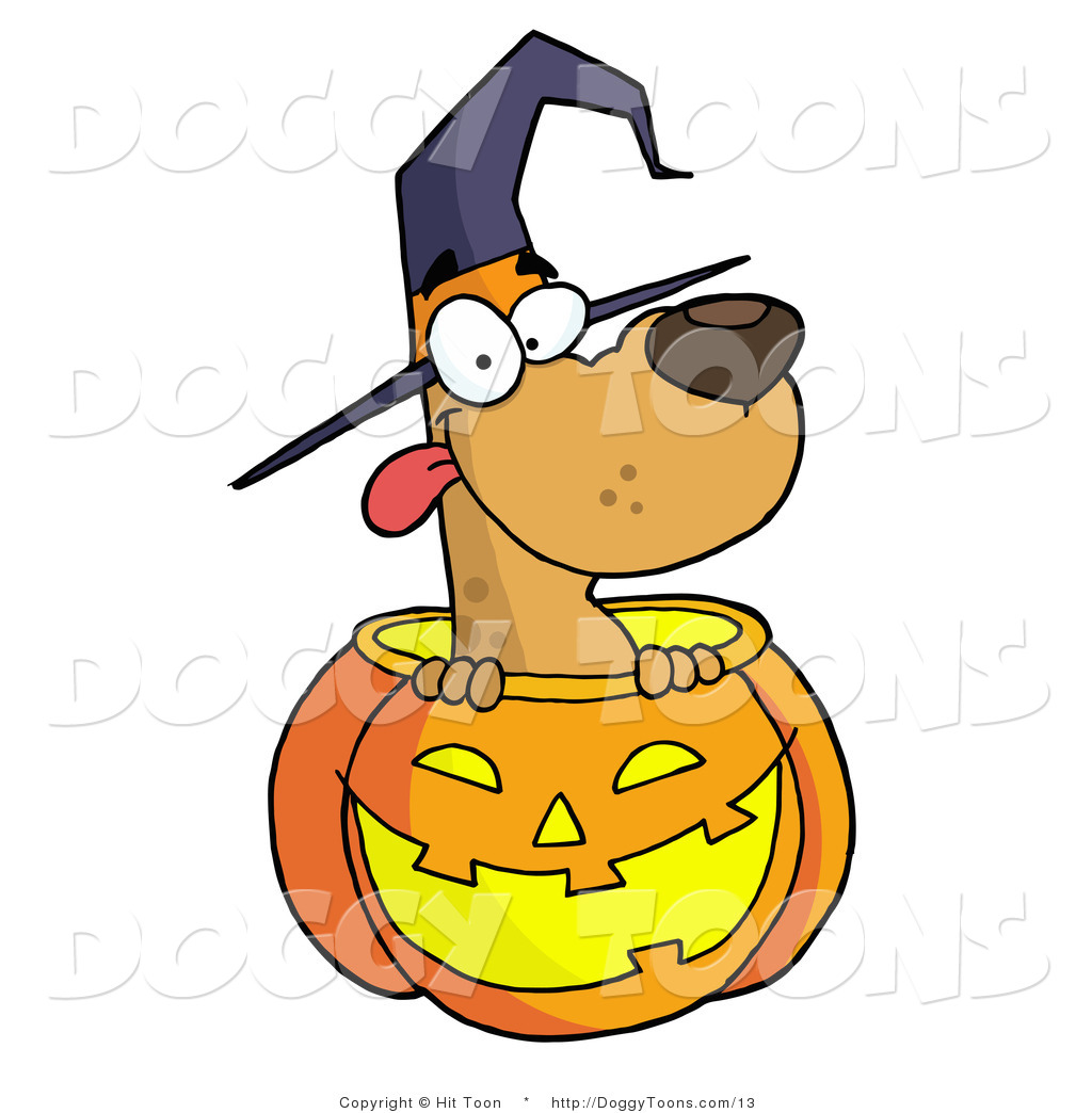 1024x1044 Vector Doggy Clipart Of A Happy Dog In A Halloween Pumpkin By Hit
