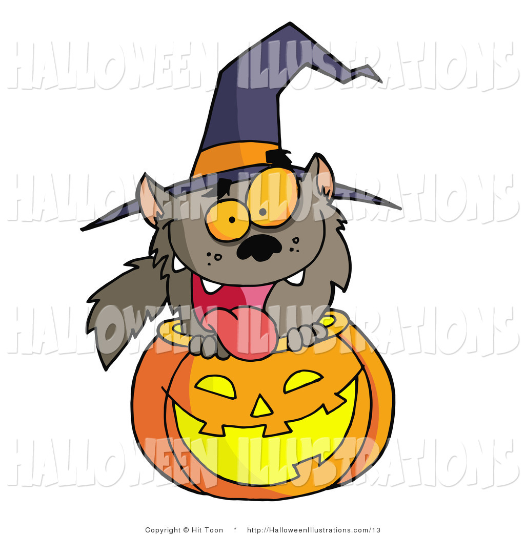 1024x1044 Vector Halloween Clip Art Of An Excited Werewolf In A Carved