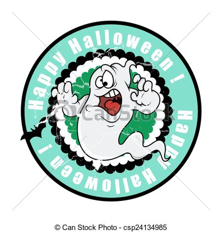 450x470 Scared Halloween Ghost. Scared Funny Halloween Ghost Vector