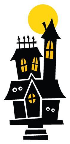 236x487 Cute Haunted House Cutout
