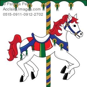 300x300 Clip Art Illustration Of A Carousel Horse