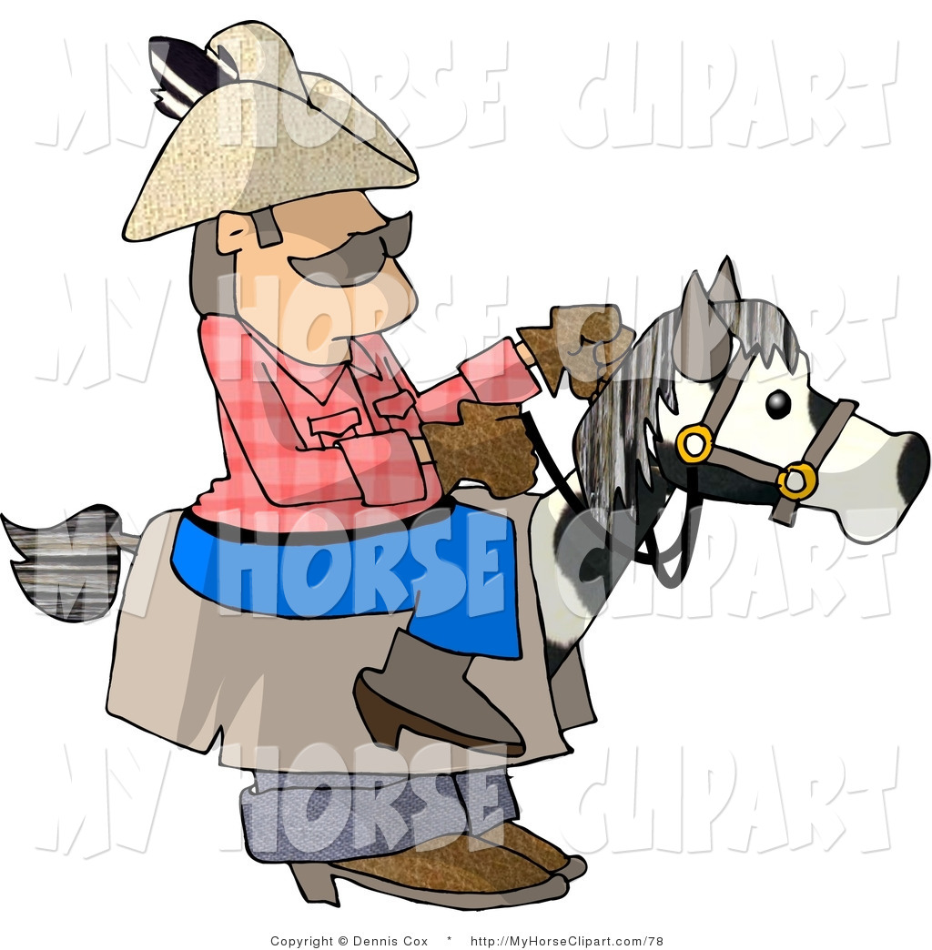 1024x1044 Clip Art Of A Halloween Costume Of A Cowboy Riding A Horse By