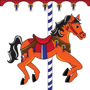 300x300 Free Clip Art Carousel Horse Carousel Horse Clipart Image