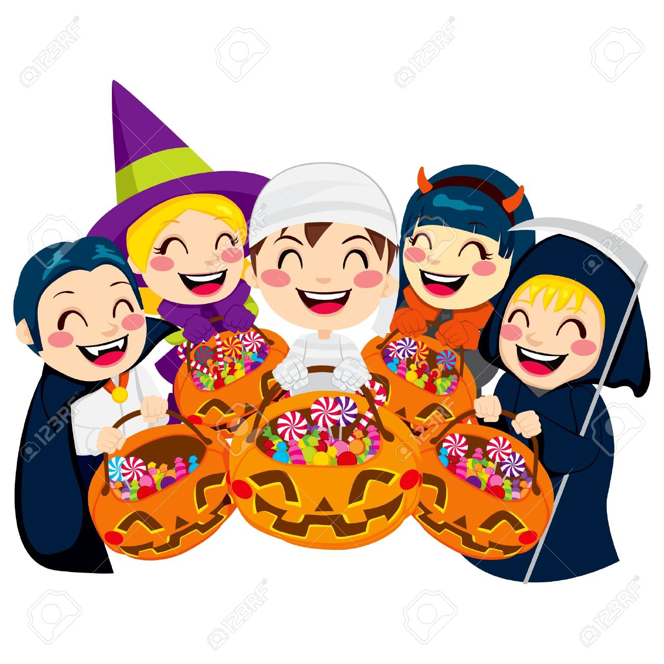 1300x1300 Kids In Halloween Costumes Clipart Fun For Christmas
