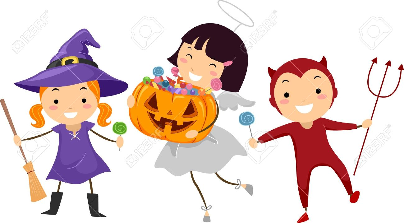 1300x717 Luxury Idea Trick Or Treat Clipart Kids Going Treating