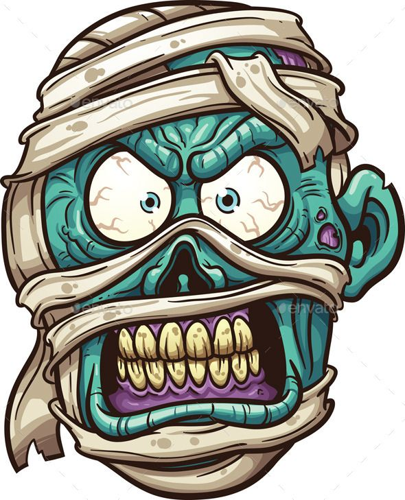 590x729 Mummy Face Halloween Vector, Font Logo And Fonts