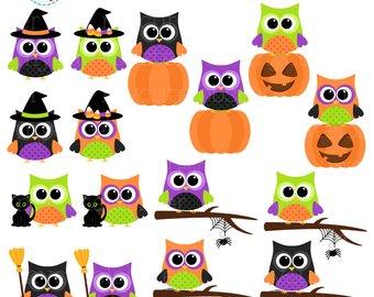 340x270 Halloween Clipart Set Clip Art Set Of Witch Cat Halloween