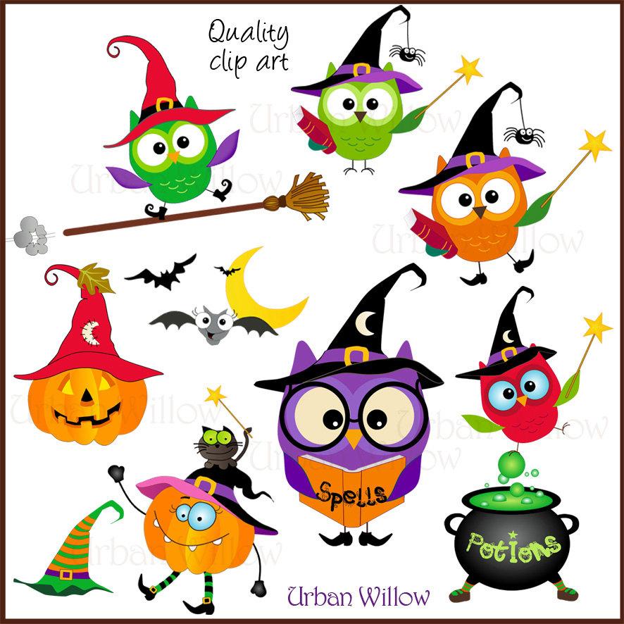 886x886 Halloween Owl Clipart, Magical Clipart, Clipart Cute Owls, Clipart
