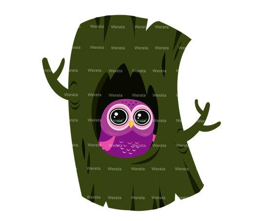570x453 Items Similar To Cute Owl Clipart Digital Christmas Easter
