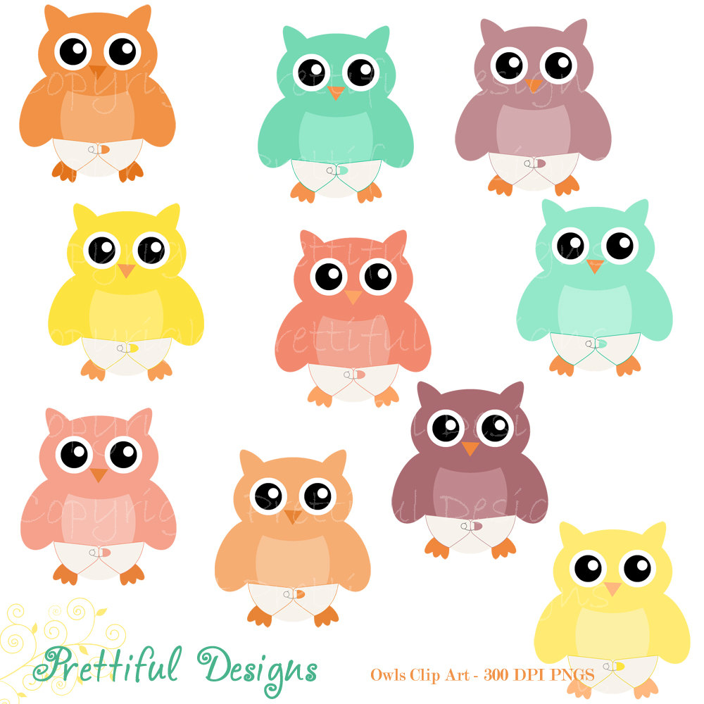 1000x1000 Owl And Baby Owl Clipart